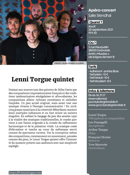 Lenni Torgue Quintet