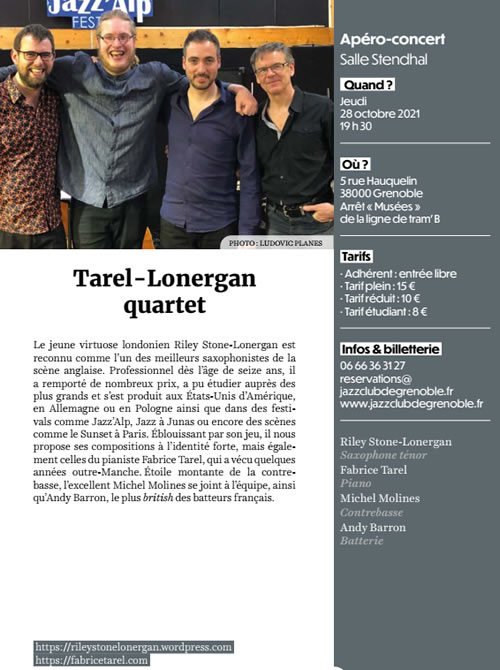 Tarel Lonergan Quartet